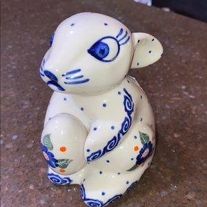 Polish pottery rabbit